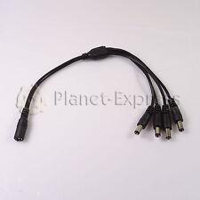Conector cable Jack DC 4 conectores macho + 1 hembra Tira led CCTV multiconector