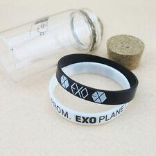 2PCS EXO Team Logo Silicone Neon Wristband Bracelet FROM EXO PLANET KPOP WB