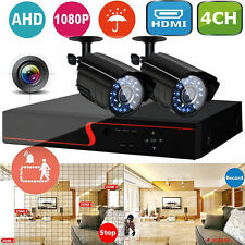 4CH HDMI 1080P DVR 2000TVL Outdoor CCTV Video Security Camera System Kit IR CUT