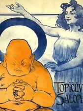 ADVERTISING EXHIBITION GALLERY TOPICUV SALON PRAGUE CZECH ART POSTER PRINT LV807