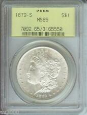 1879-S Morgan Silver Dollar S$1 Pcgs Ms65 Ms-65 Ogh Old Green Holder Gem !