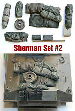 1/35 scale resin Sherman WW2 US Tank Engine Deck and Stowage Sets #2