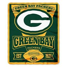 "50"" x 60"" Green Bay Packers Marquee Fleece Throw Blankets FREE SHIPPING"