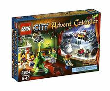 NEW IN BOX SEALED Lego Town City Advent Calendar (2824) Retired 2010 Christmas