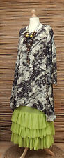 LAGENLOOK*BELLA BLUE* FANTASTIC QUIRKY PRINT 2 POCKETS LONG TUNIC*Size S-M-L