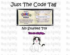 Webkinz Black and White Cat ( unused code tag only ) !CREDIBLE Proven Seller!
