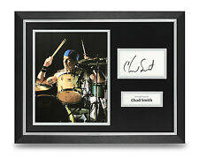 Chad Smith Signed Photo Framed 16x12 Autograph Red Hot Chili Peppers Memorabilia