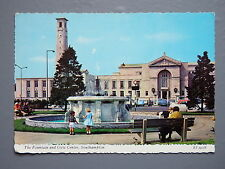 R&L Postcard: The Fontain and Civic Centre, Southampton, Valentines 1960s