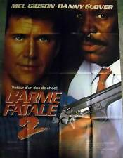 L'ARME FATALE 2/LETHAL WEAPON Gibson,Glover AFFICHE 120x160/47x63 FRENCH POSTER