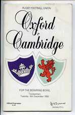 (Gs893-100) Oxford vs Cambridge, Rugby Union Programme, Twickenham 1992 VG
