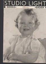 Studio Light Magazine Photography Eastman Kodak April 1938 Cute Child
