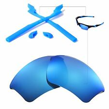New WL Ice Blue Lenses And Rubber Kit For Oakley Half Jacket 2.0 XL
