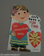 Vtg Valentine Card Let's Have a Fun Time Sweet & Simple Boy UNUSED