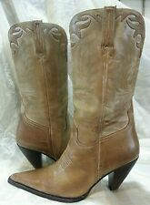 CHARLIE 1 HORSE LUCCHESE 9.5B ARTISAN HANDCRAFTED BRAZIL LEATHER TAN/BROWN BOOTS
