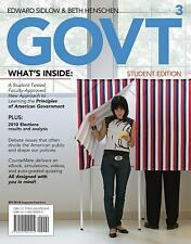Govt 2012 by Edward I. Sidlow and Beth Henschen (2011, Paperback)