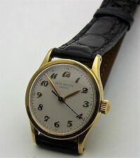 Vintage 1940's 18K Yellow Gold Patek Philippe Mans Sweep Second Calatrava 2457