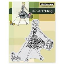 PENNY BLACK RUBBER STAMPS SLAPSTICK FASHION LEADER STAMP