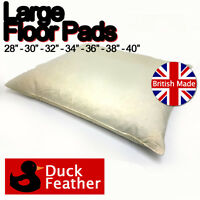 2 Pack Large Square Duck Feather Floor Cushion Pad Insert Filler Handmade in UK