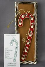 VTG Wallace Silversmiths 1991 Goose Candy Cane Ornament Eleventh in Series