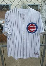 MLB Chicago Cubs Baseball Jersey White With Pinstripes Adult sz XL