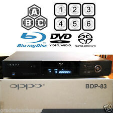 OPPO DIGITAL BDP-83 MULTI REGION CODE FREE BLU-RAY DVD SACD PLAYER USED IN BOX