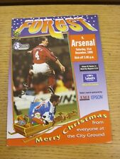 21/12/1996 Nottingham Forest v Arsenal  (the item is in good/very good condition