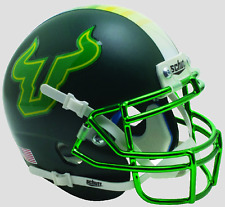 SOUTH FLORIDA BULLS NCAA Schutt Authentic MINI Football Helmet USF (CHROME)