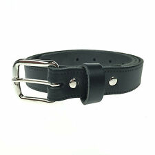 "Mens Womens 1"" Silver Buckle Handmade In England Real Leather Jeans 25mm Belt"