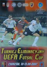 Programm Futsal 10.-13.9.2007 Chorzow Skopje Minsk Hapoel Ironi Rishon Lezion