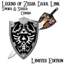 Legend of Zelda Dark Link Hylian Zelda Shield & Sword COMBO (UA-2701BK/CH0087BK)
