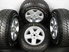 GENUINE OE SET OF FOUR JEEP WRANGLER ALLOY WHEELS WITH TYRES