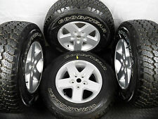 GENUINE SET OF FIVE JEEP WRANGLER ALLOY WHEELS WITH TYRES 245/75R17