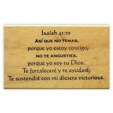 ISAIAH 41:10 in SPANISH bible verse rubber stamp, estampilla, sello de goma #11