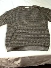 St77 Pronto Uomo Scooped Neck Striped Acrylic Sweater XXL