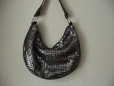CHATEAU BLACK WITH SILVER HOBO PURSE EVENING BAG NWOT