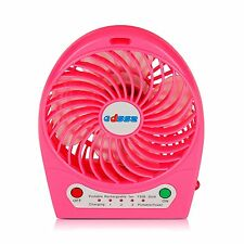 Portable Rechargeable Fan air Cooler Mini Operated Desk USB 18650 Battery USA
