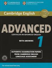 Cambridge English ADVANCED (CAE) 1 with CD's & Answers for Exam from 2015 @NEW@