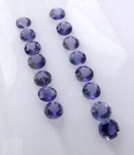 Lot of 25 Pic.Natural Iolite 4X4 mm Round Cut Faceted Loose Gemstone For Jewelry