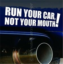 Run Your Car Funny Vinyl Bumper Sticker Decal JDM Sticker For Subaru Honda Vtec