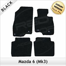 Mazda 6 Mk3 2013 onwards Tailored LUXURY 1300g Carpet Car Floor Mats BLACK