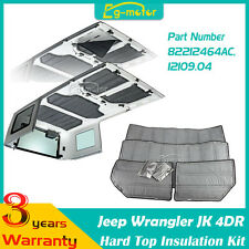 4pcs Hard Top Insulation Kit For Jeep Wrangler JK 4DOOR 4DR 82212464AC 2007-2015
