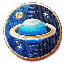 Ecusson Patch brodé thermocollant Saturne, Espace, NASA, Science, Galaxie