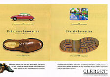 PUBLICITE ADVERTISING 094  1991  CLERGET  chaussures homme DS 19  ( 2 pages)