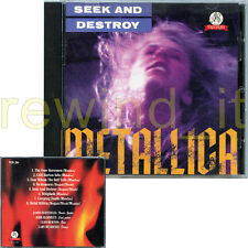 "METALLICA ""SEEK AND DESTROY"" RARE CD 1991 ITALY"