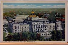LIBRARY OF CONGRESS AND ANNEX, WASHINGTON DC, VINTAGE POSTCARD, UNPOSTED