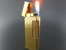 Dunhill Vintage Rollagas Lighter Gold Plated 100% Authentic [656]
