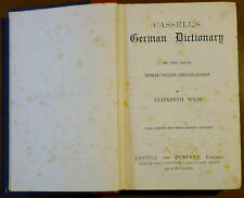 Cassel's German Dictionnary in two parts, 1888