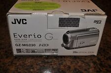 NIB JVC GZ-MG230 Everio, 28x Optical Zoom, 30GB Camcorder -Silver