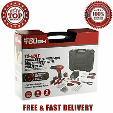 Hyper Tough 12Volt Cordless Lithium-Ion Drill Driver With 100 Pieces Project Kit