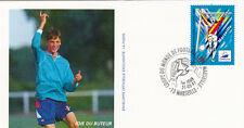 ENVELOPPE 1 er jour timbrée FOOTBALL coupe du monde 1998 MARSEILLE joie buteur